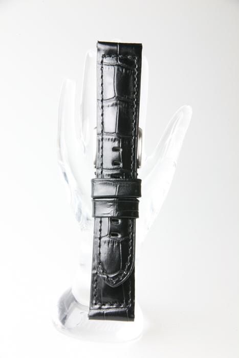 松重オリジナル 厳選こだわりベルト XMK015A5-2 牛革型押し 厳選こだわり 色:黒 - お見舞い サイズ:21-18mm.22-20mm.24-22mm 価格交渉OK送料無料