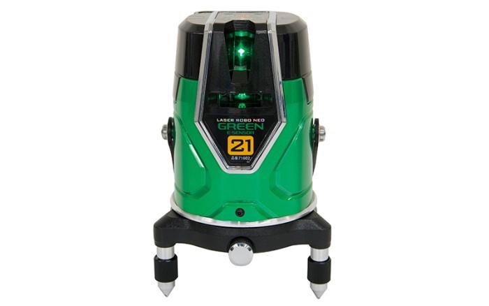 レーザー墨出し器 シンワ測定 レーザーロボグリーンNeo メーカー公式 E Sensor 人気ショップが最安値挑戦 地墨71602 21縦 横