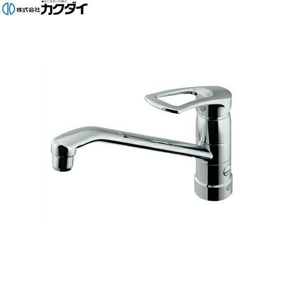 【フラッシュクーポン!5/1~5/8 AM9:59】[117-061]カクダイ[KAKUDAI]シングルレバー混合栓[一般地仕様][分水孔つき]【送料無料】
