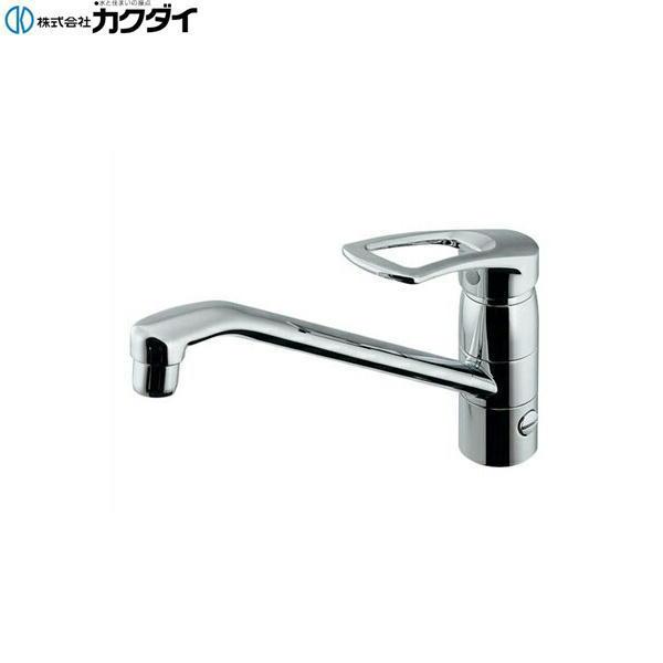 [117-063]カクダイ[KAKUDAI]シングルレバー混合栓[一般地仕様][分水孔つき][送料無料]
