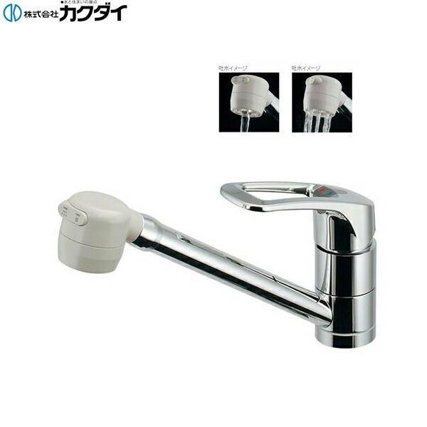 [117-124K]カクダイ[KAKUDAI]シングルレバー混合栓[寒冷地仕様]【送料無料】