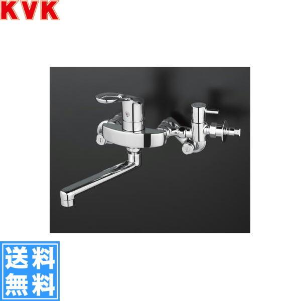 【フラッシュクーポン!5/1~5/8 AM9:59】[KM5000ZCHTTU]KVK給水・給湯接続用シングルレバー混合水栓[寒冷地仕様][分岐止水栓付]【送料無料】
