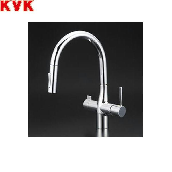[KM6081SCV11EC]KVK浄水器付シングルレバー式シャワー付混合水栓[Z38450付][送料無料]