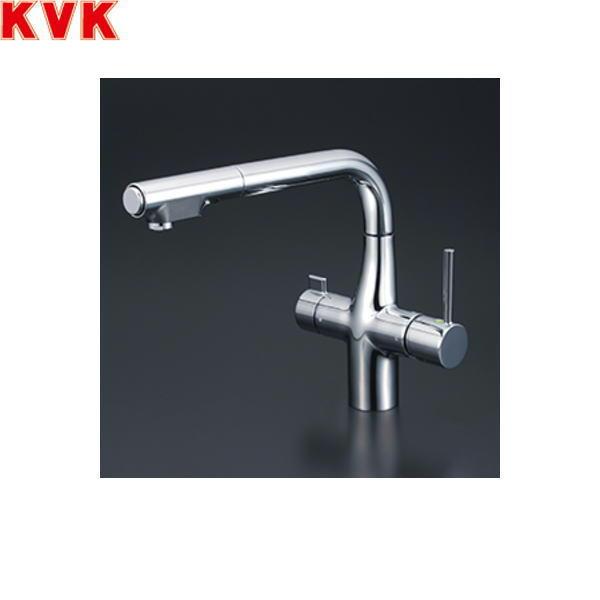 [KM6121STEC]KVK浄水器付シングルレバー式シャワー付混合水栓[Z351565付]【送料無料】