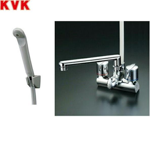 KVKデッキ形一時止水付2ハンドルシャワーKF206ZG[寒冷地仕様]【送料無料】