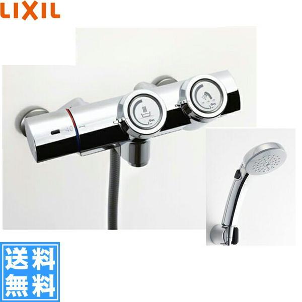 リクシル[LIXIL/INAX]シャワーバス水栓[サーモスタット][プッシュ式水栓][寒冷地仕様]BF-HW156TNSCW【送料無料】