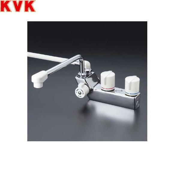 [KF207ZRR3]KVKデッキ形一時止水付2ハンドルシャワー水栓[洗い場・浴槽兼用水栓][寒冷地仕様]【送料無料】