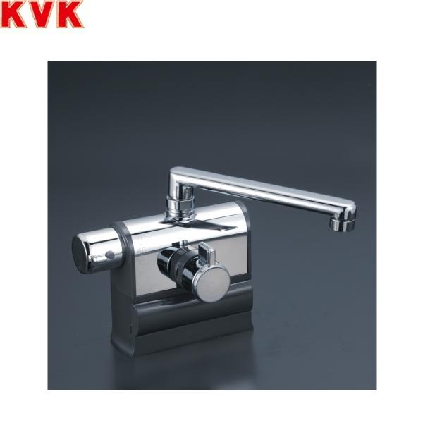 [KM3008L]KVKデッキ形サーモスタット式混合栓[190mmパイプ仕様][可変ピッチ式][一般地・寒冷地共用]