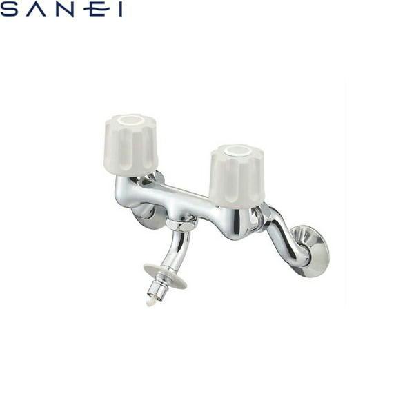 三栄水栓[SAN-EI]ツーバルブ洗濯機用混合栓K1101TV-LH[一般地仕様]【送料無料】