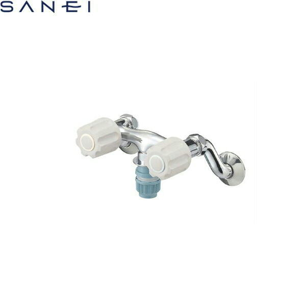 三栄水栓[SAN-EI]ツーバルブ洗濯機用混合栓K1311TVK-LH[寒冷地仕様]【送料無料】