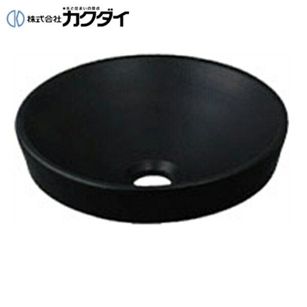 カクダイ[KAKUDAI]丸型手洗器493-012-D(墨)