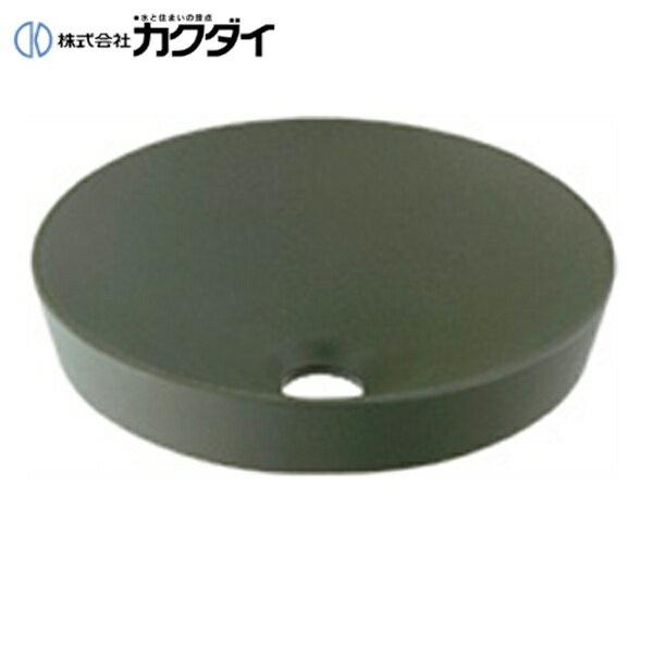 【フラッシュクーポン!5/1~5/8 AM9:59】カクダイ[KAKUDAI]丸型手洗器493-012-YG(松葉)