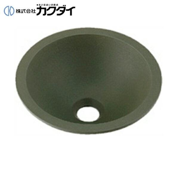 カクダイ[KAKUDAI]丸型手洗器493-013-YG(松葉)