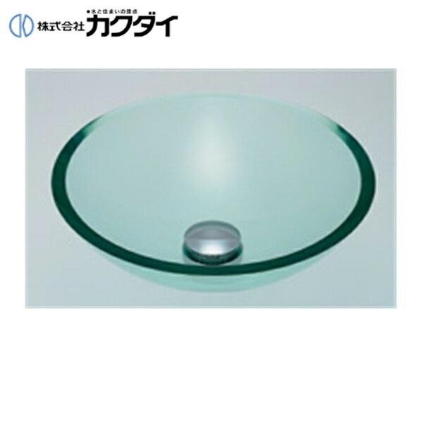 【フラッシュクーポン!5/1~5/8 AM9:59】カクダイ[KAKUDAI]ガラス丸型洗面器493-025-C(クリア)