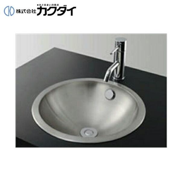 カクダイ[KAKUDAI]ステンレス丸型洗面器493-040