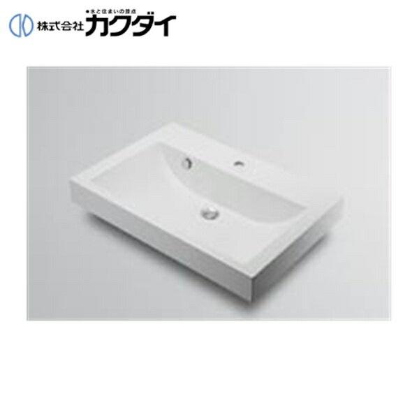 【フラッシュクーポン!5/1~5/8 AM9:59】カクダイ[KAKUDAI]角型洗面器493-071-750(3ホール)