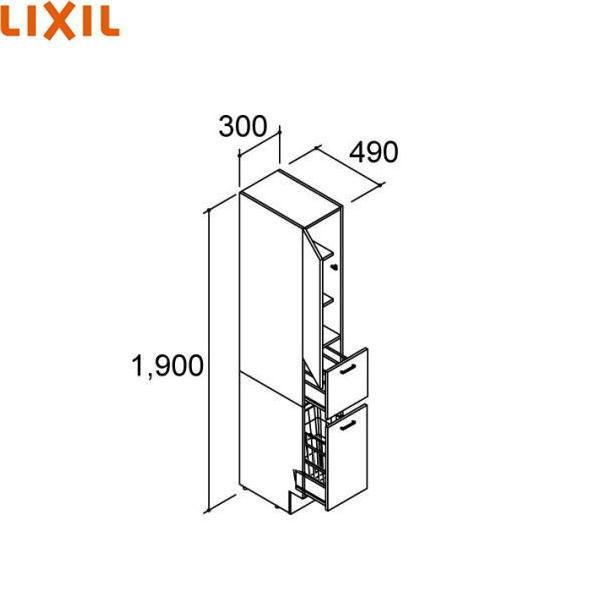 【フラッシュクーポン!6/1~6/7 AM9:59】リクシル[LIXIL/INAX][PIARAピアラ]トールキャビネットAR1S-305DL(R)[間口300mm]【送料無料】