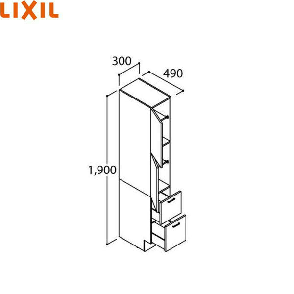 リクシル[LIXIL/INAX][PIARAピアラ]シリーズトールキャビネットARS-305[間口300mm]【送料無料】