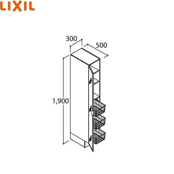 リクシル[LIXIL/INAX][PIARAピアラ]姿見タイプトールキャビネットARS-305ML(R)[間口300mm]【送料無料】