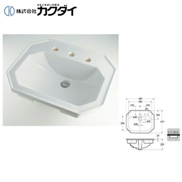 カクダイ[KAKUDAI]角型洗面器#DU-0476580030