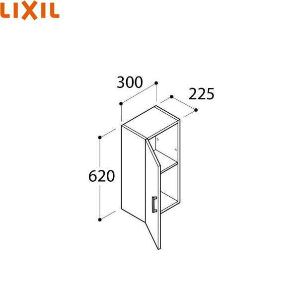 [FTVK-302/VP1]リクシル[LIXIL/INAX][オフト]ミドルキャビネット[間口300]【送料無料】