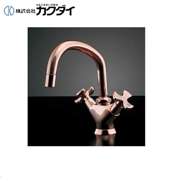 カクダイ[KAKUDAI]2ハンドル混合栓//ピンクゴールド150-425