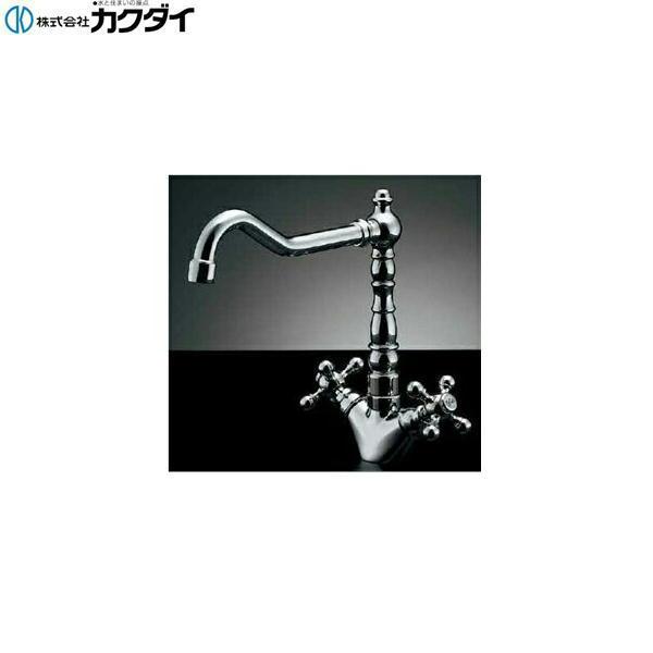 カクダイ[KAKUDAI]2ハンドル混合栓150-430【送料無料】