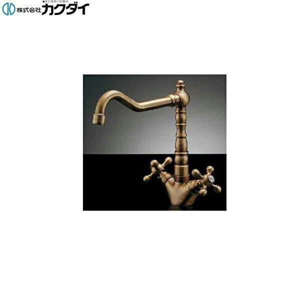 【フラッシュクーポン!5/1~5/8 AM9:59】[150-430-AB]カクダイ[KAKUDAI]2ハンドル混合栓//オールドブラス【送料無料】