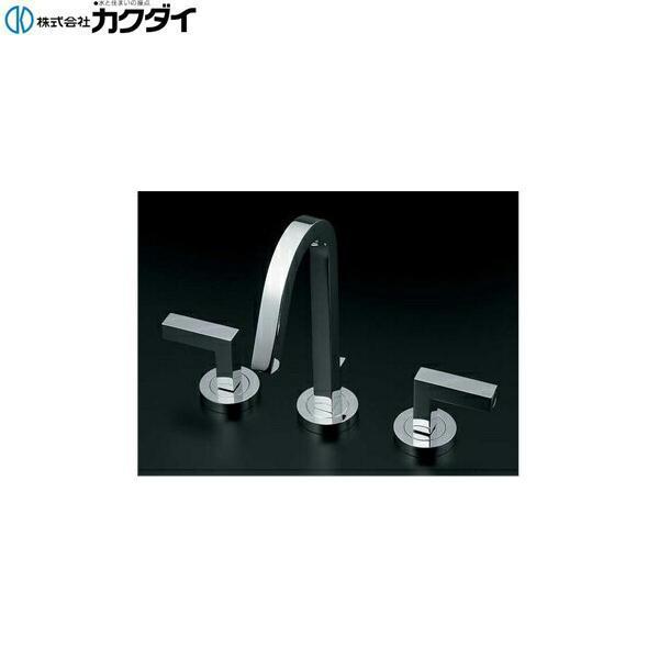 カクダイ[KAKUDAI]台付2ハンドル混合栓153-018【送料無料】