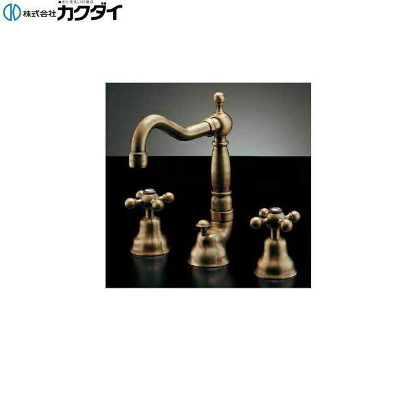 カクダイ[KAKUDAI]2ハンドル混合栓//オールドブラス153-025【送料無料】