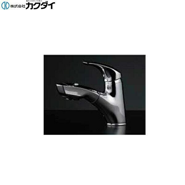 【★11/10限定★エントリー&カードでポイント最大12倍】カクダイ[KAKUDAI]シングルレバー引出し混合栓184-002【送料無料】