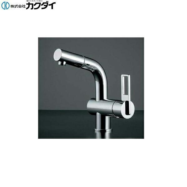 カクダイ[KAKUDAI]シングルレバー引出し混合栓184-013K【送料無料】