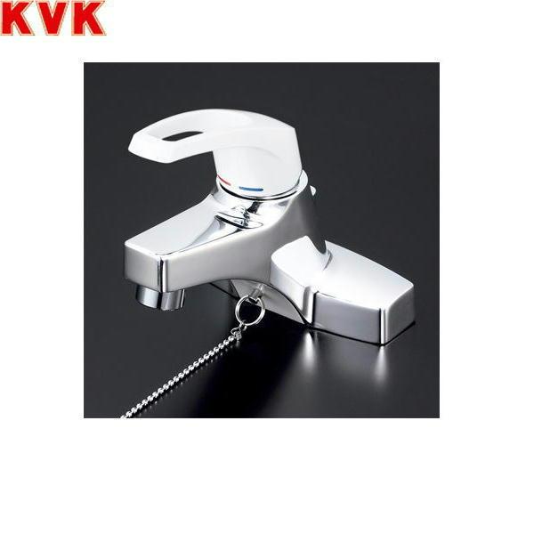 【フラッシュクーポン!5/1~5/8 AM9:59】[KM7014T2]KVK洗面用シングルレバー混合水栓[一般地仕様][ゴム栓付]【送料無料】