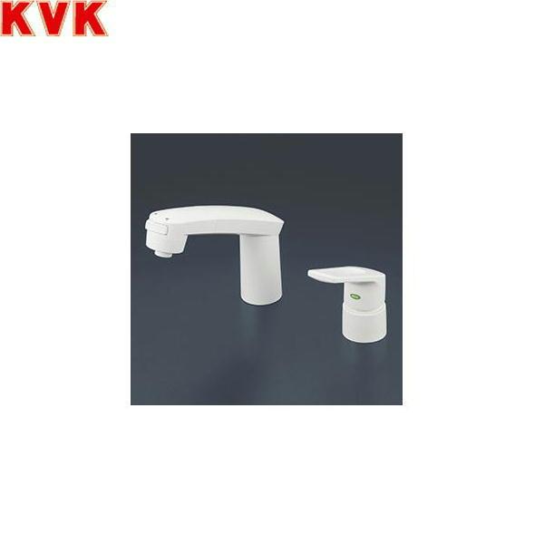 【フラッシュクーポン!5/1~5/8 AM9:59】[KM8007S2CNEC]KVK洗面用シングルレバー式洗髪シャワー混合水栓[一般地仕様][ヒートン付]【送料無料】