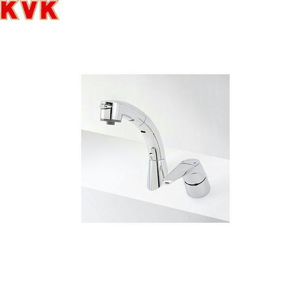 [KM8019ZT]KVK洗面用シングルレバー式洗髪シャワー混合水栓[寒冷地仕様][45°傾斜取付タイプ]【送料無料】