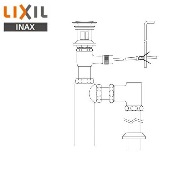 【フラッシュクーポン!5/1~5/8 AM9:59】[LF-710SAC]リクシル[LIXIL/INAX]ポップアップ式排水金具[呼び径32mm・床排水ボトルトラップ(排水口カバー付)]