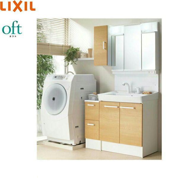 [FTVN-755SY1-W+MFTV1-753TXJU他]リクシル[LIXIL/INAX][オフト]洗面化粧台セット[セット間口1000・LED・ハイグレード]【送料無料】