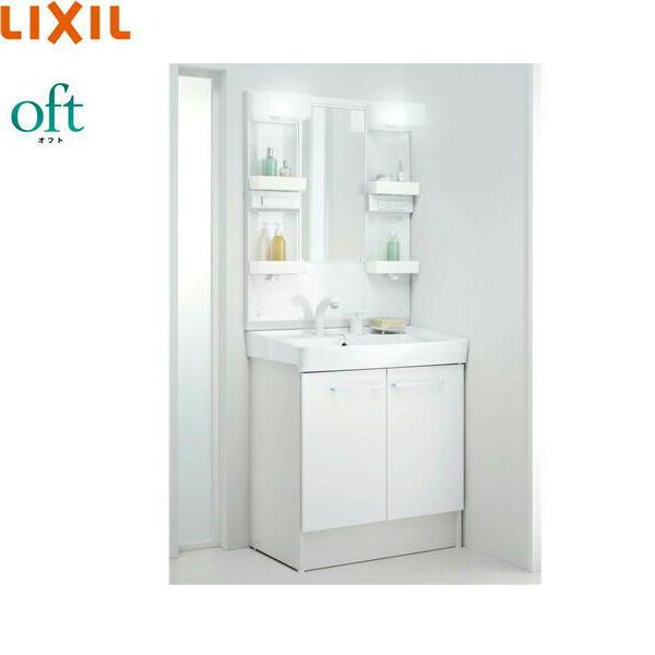 [FTVN-755SY1+MFTX1-751YFJU]リクシル[LIXIL/INAX][オフト]洗面化粧台セット[セット間口750][ショートミラー]【送料無料】