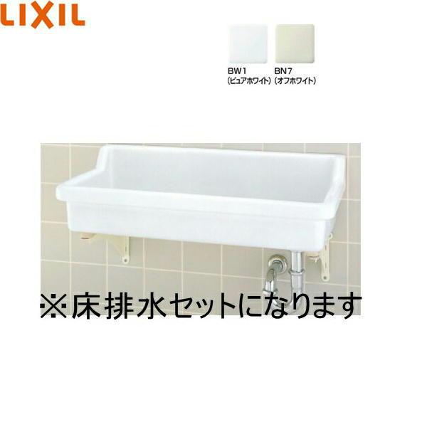 [S-2+SF-3SA+LF-615KS+SF-10E]リクシル[LIXIL/INAX]バック付大形流し[床排水セット][水栓なし]【送料無料】