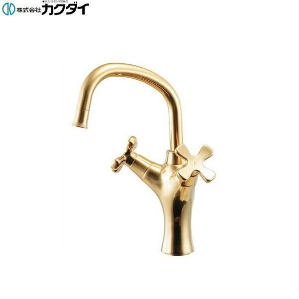 [150-446-CG]カクダイ[KAKUDAI]2ハンドル混合栓[クリアブラス]【送料無料】