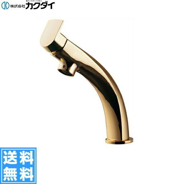 【フラッシュクーポン!5/1~5/8 AM9:59】[183-155]カクダイ[KAKUDAI]シングルレバー混合栓[一般地・寒冷地共用][ゴールド]【送料無料】