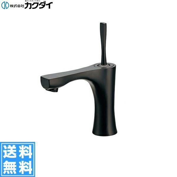 [183-237]カクダイ[KAKUDAI]シングルレバー混合栓[一般地仕様][マットブラック]【送料無料】