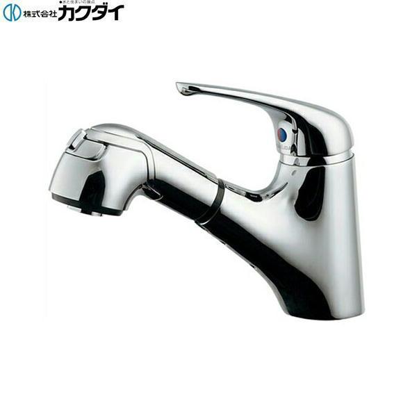 [184-022]カクダイ[KAKUDAI]シングルレバー引出し混合栓[一般地仕様]【送料無料】