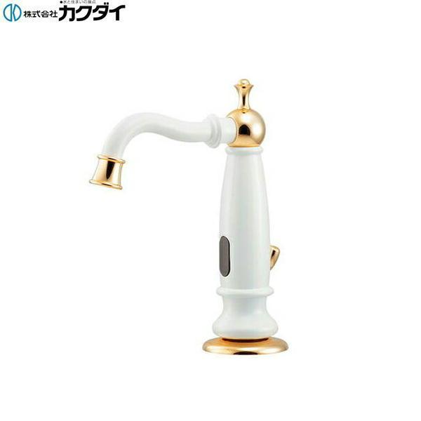 [713-360]カクダイ[KAKUDAI]センサー水栓外部電磁弁AC,DC兼用[白塗装仕上げ][引棒付きφ4ミリ]【送料無料】