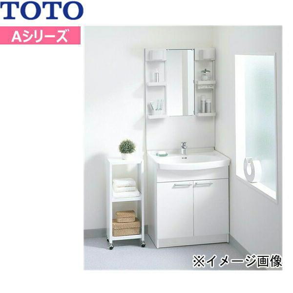 [LDA756BER-LMA750DC]TOTO[Aシリーズ]洗面化粧台セット01[セット間口750mm][一面鏡・2枚扉]【送料無料】
