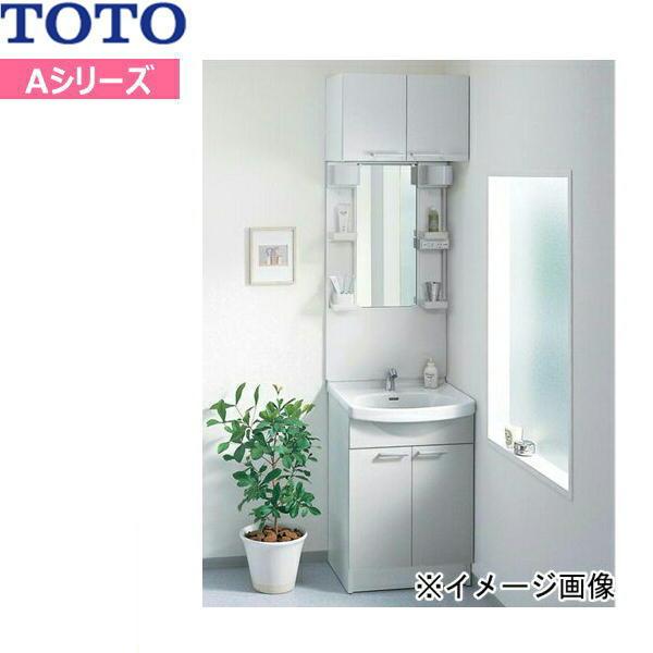 [LDA606BYR-LMA600DCほか]TOTO[Aシリーズ]洗面化粧台セット04[セット間口600mm][一面鏡・2枚扉]【送料無料】