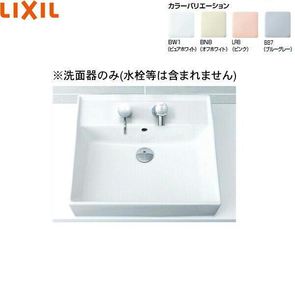[L-555]リクシル[LIXIL/INAX]角形洗面器[ベッセル・壁付兼用式]【送料無料】