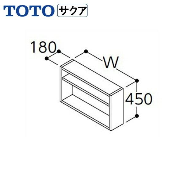 [LWWB075GEG1G]TOTO[SAKUAサクア]洗濯機上オープン棚[間口750]