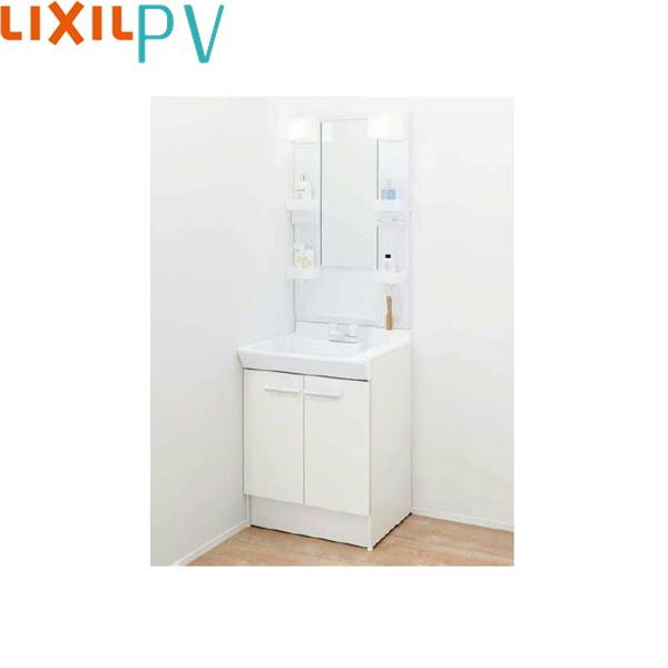 [PV1N-600/VP1H+MPV1-601XFJU]リクシル[LIXIL/INAX][PV]洗面化粧台セット5[間口600mm][2ハンドル混合水栓]1面鏡LEDくもり止め[送料無料]