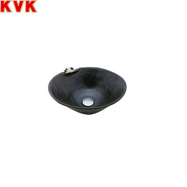 [KV216S]KVK手洗器[美術工芸手洗鉢][黒マット(ねこ)]【送料無料】